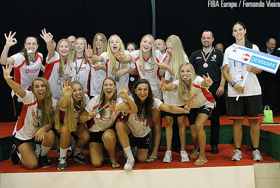 Denmark finish third at the U16 European Championship Women Division B